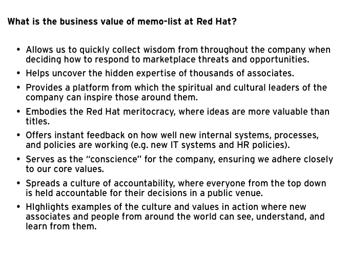 fueling passion the employee led evolution of memo list at red hat